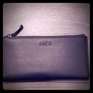 NEW DKNY black bifold long wallet